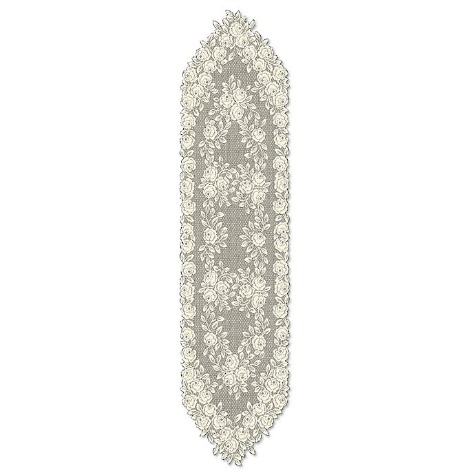 Alternate image 1 for Heritage Lace® Tea Rose 60-Inch Table Runner in Ecru