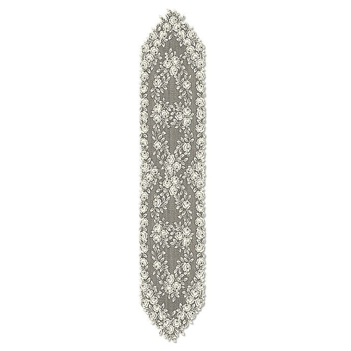 Alternate image 1 for Heritage Lace® Tea Rose 72-Inch Table Runner in Ecru
