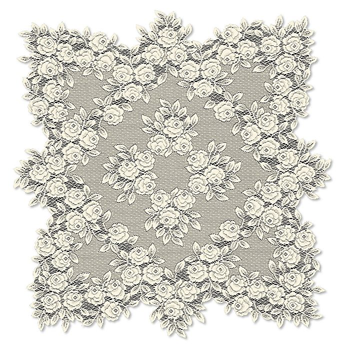 Alternate image 1 for Heritage Lace® Tea Rose 30-Inch Table Topper in Ecru