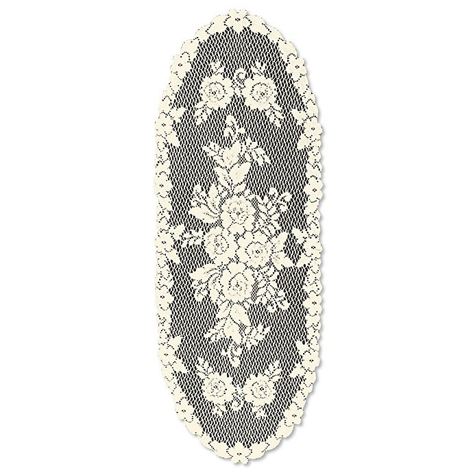 Alternate image 1 for Heritage Lace® Victorian Rose 36-Inch Table Runner in Ecru