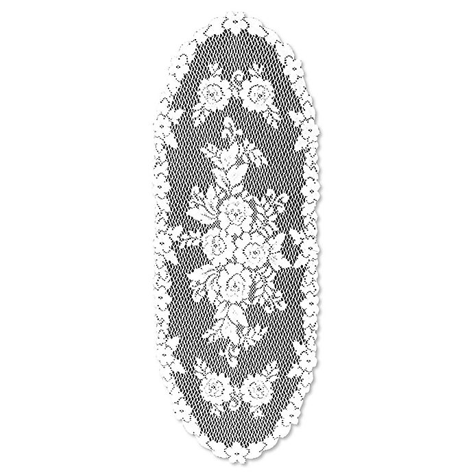 Alternate image 1 for Heritage Lace® Victorian Rose 36-Inch Table Runner in White