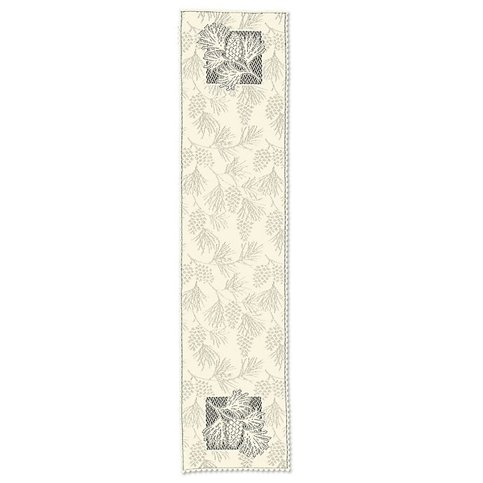 Alternate image 1 for Heritage Lace® Woodland 14-Inch x 60-Inch Table Runner in Ecru