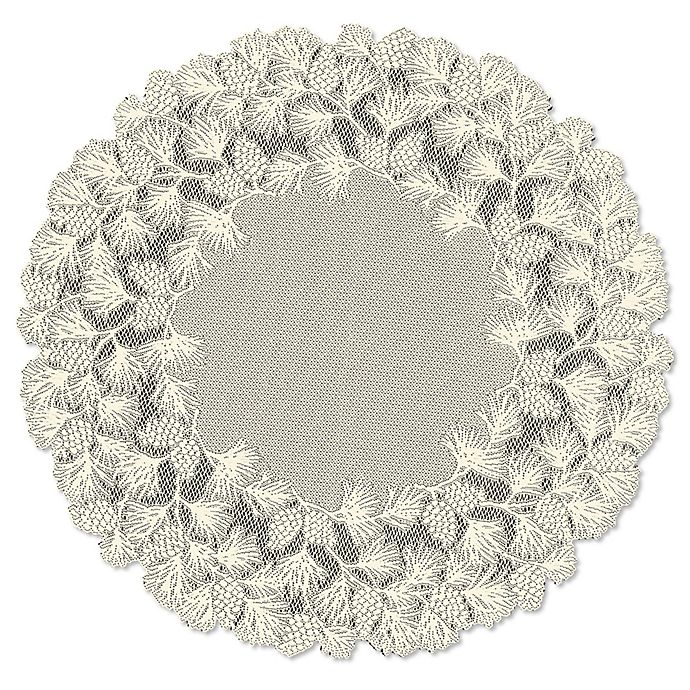 Heritage Lace Woodland 48 Inch Round, Round Lace Table Toppers