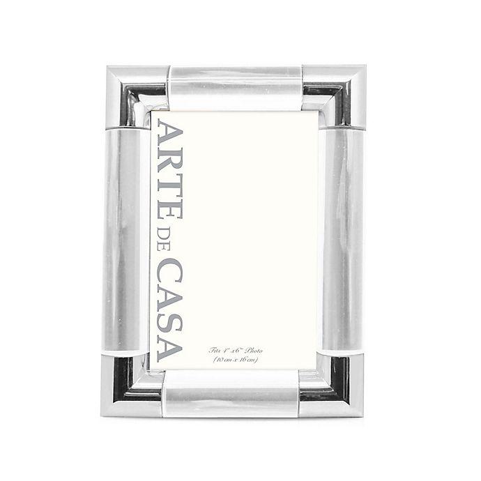 Alternate image 1 for Arte de Casa Palermo 4-Inch x 6-Inch Picture Frame in Silver