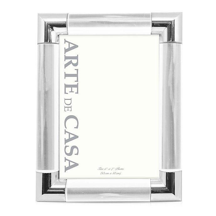 Alternate image 1 for Arte de Casa Palermo 5-Inch x 7-Inch Picture Frame in Silver