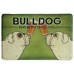 Bacova Bulldog Brewing 23-Inch x 36-Inch Memory Foam Kitchen Mat in Green
