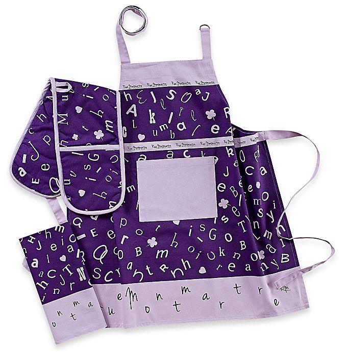Alternate image 1 for Garnier-Thiebaut Scrabble Lavande 4-Piece Kitchen Linens Set in Lavender