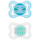 Alternate image 1 for MAM Mini Air Age 0-6 Months Pacifier in Blue (2-Pack)