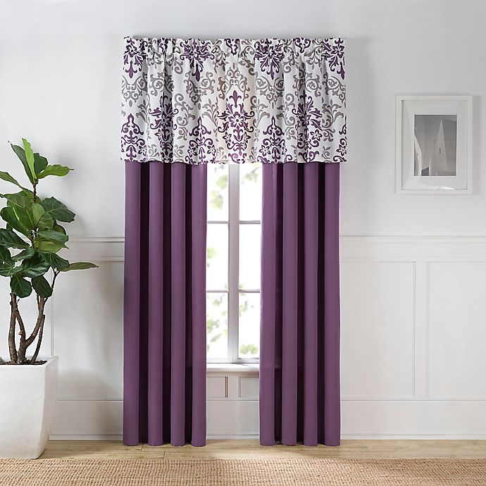 Carina Window Curtain Panel and Valance | Bed Bath & Beyond