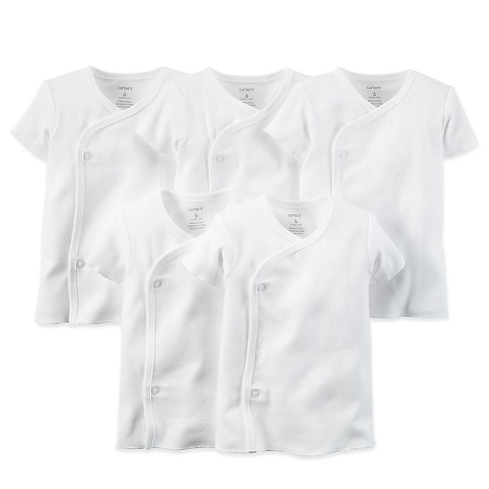 Alternate image 1 for carter's® 5-Pack White Side-Snap Undershirts