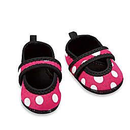 nufoot Always-On Polka Dot Slipper in Pink