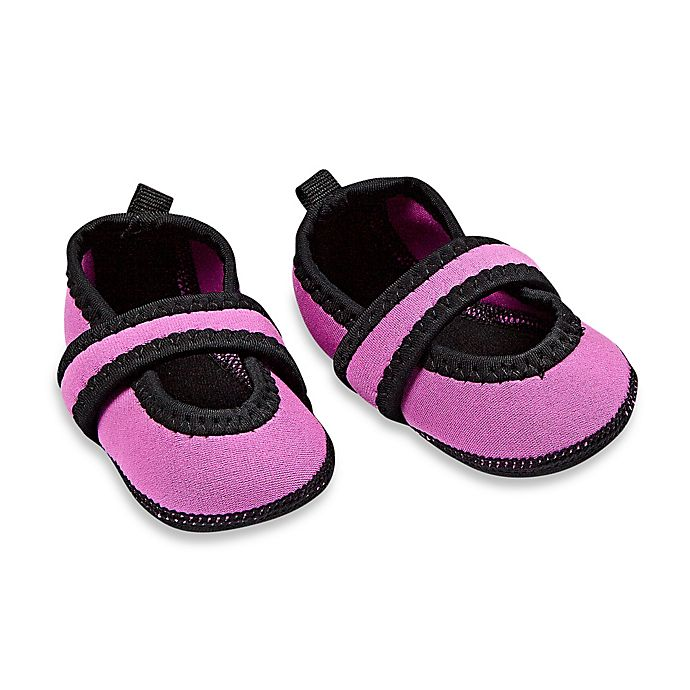 Alternate image 1 for nufoot Baby Betsy Lou Size 6-12M Mary Jane Slipper in Pink