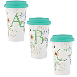 Lenox® Butterfly Meadow® 10 oz. Monogrammed Travel Mug