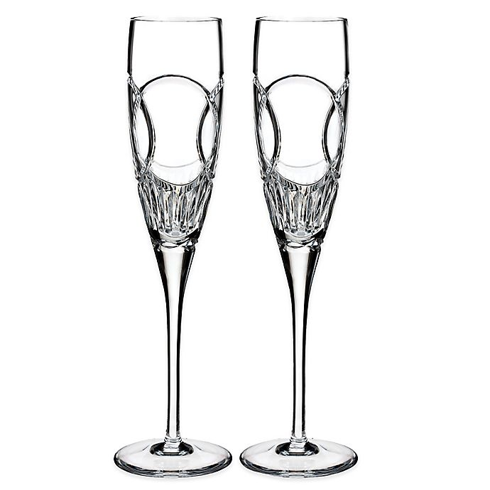 Alternate image 1 for Waterford Love Wedding Vows Toasting Flutes (Set of 2)