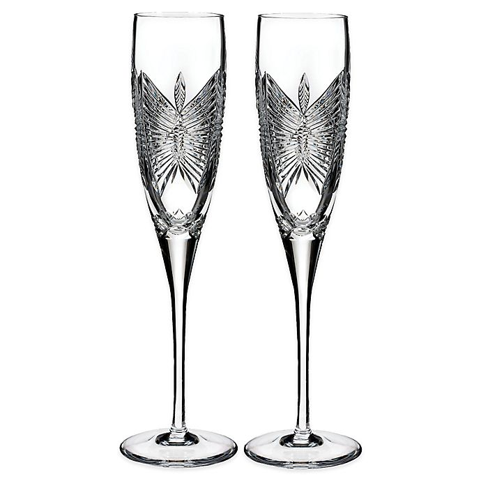 Alternate image 1 for Waterford Love Happiness Toasting Flutes (Set of 2)