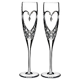 Waterford® Love True Love Toasting Flutes (Set of 2)