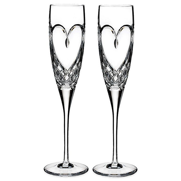 Alternate image 1 for Waterford® Love True Love Toasting Flutes (Set of 2)