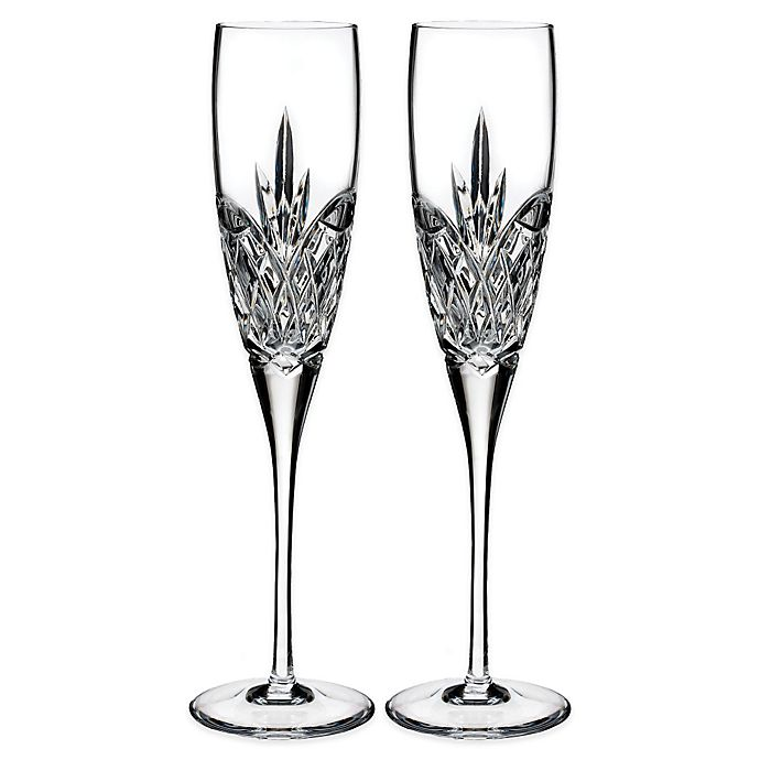 Alternate image 1 for Waterford® Love Forever Toasting Flutes (Set of 2)