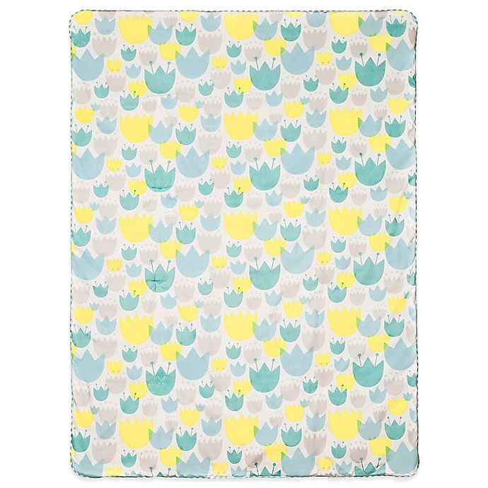 Alternate image 1 for Babyletto Tulip Garden 2-in-1 Play and Toddler Blanket