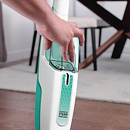 Shark® Steam Mop in White/Seafoam