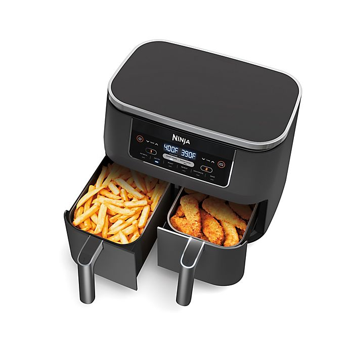 Alternate image 1 for Ninja® Foodi® 8qt. 6-in-1, 2-Basket Air Fryer with DualZone™ Technology
