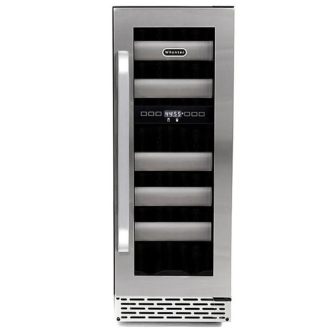 Alternate image 1 for Whynter Elite17-Bottle Stainless Steel Dual-Zone Wine Refrigerator