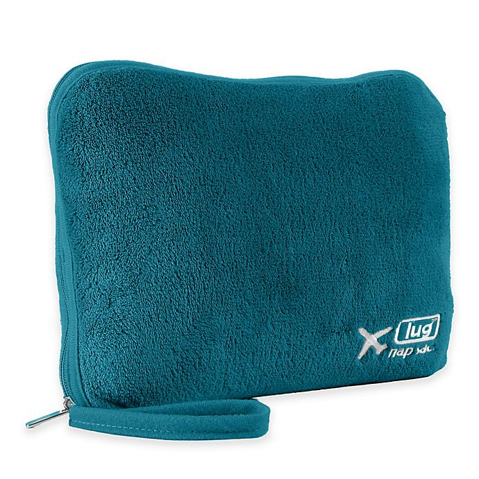Alternate image 1 for Lug® Nap Sac Travel Blanket and Pillow Set in Ocean Teal