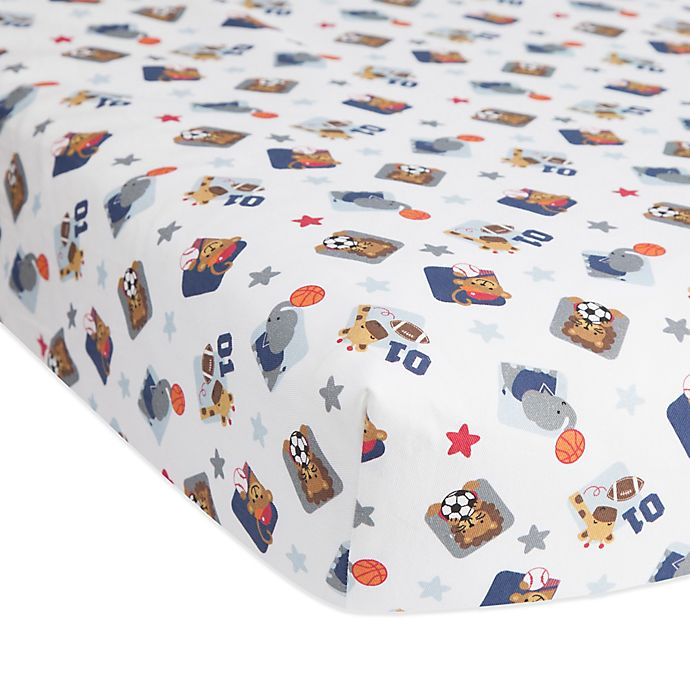 Alternate image 1 for Lambs & Ivy® Future All Star Fitted Crib Sheet