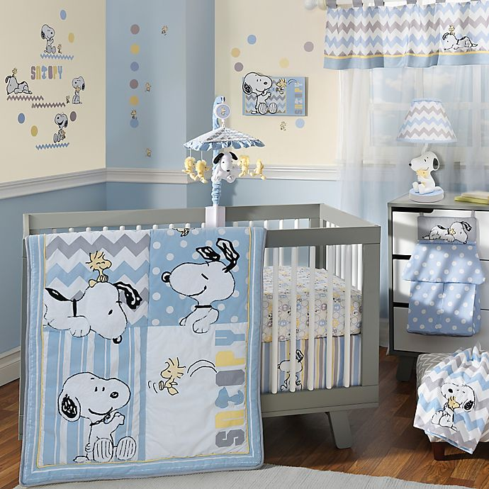Alternate image 1 for Lambs & Ivy® My Little Snoopy™ 4-Piece Crib Bedding Set