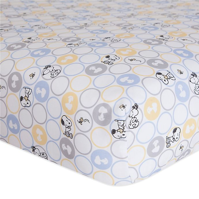 Alternate image 1 for Lambs & Ivy® My Little Snoopy™ Fitted Crib Sheet