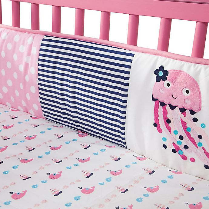 Alternate image 1 for Lambs & Ivy® Splish Splash 4-Piece Crib Bumper Set