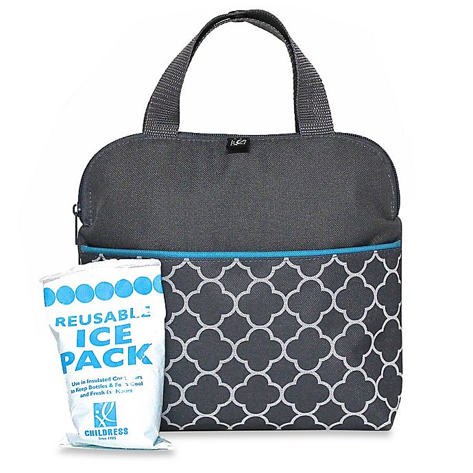 Alternate image 1 for J.L. Childress MaxiCOOL™ Insulated 4-Bottle Cooler Tote in Grey Clover