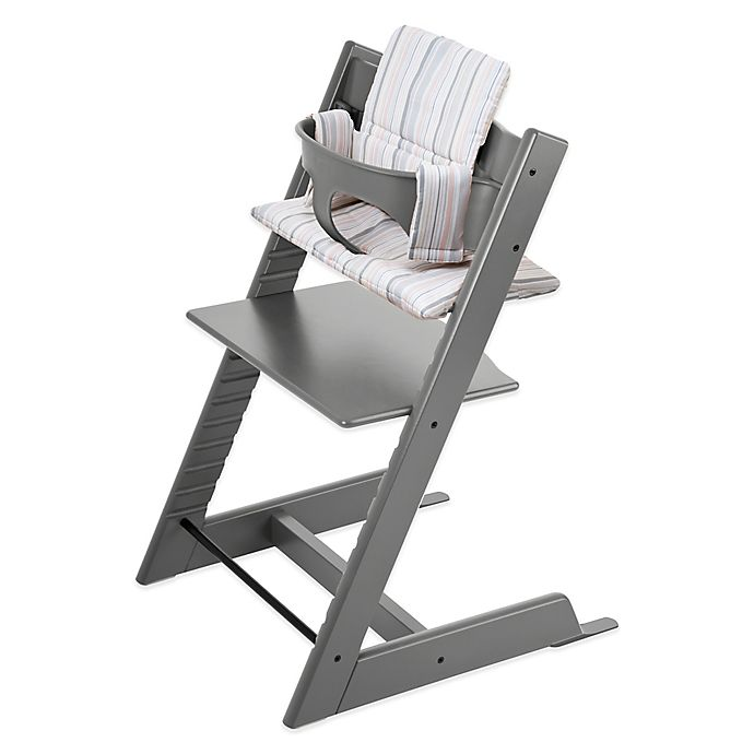 Alternate image 1 for Stokke® Tripp Trapp® High Chair Complete Bundle in Grey