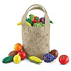 Learning Resources 17-Piece New Sprouts Fresh-Picked Fruit and Veggie Tote Set