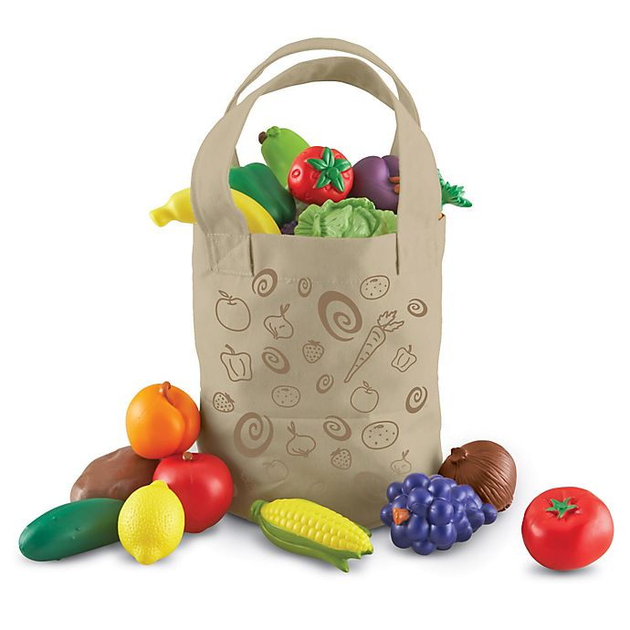 Alternate image 1 for Learning Resources 17-Piece New Sprouts Fresh-Picked Fruit and Veggie Tote Set