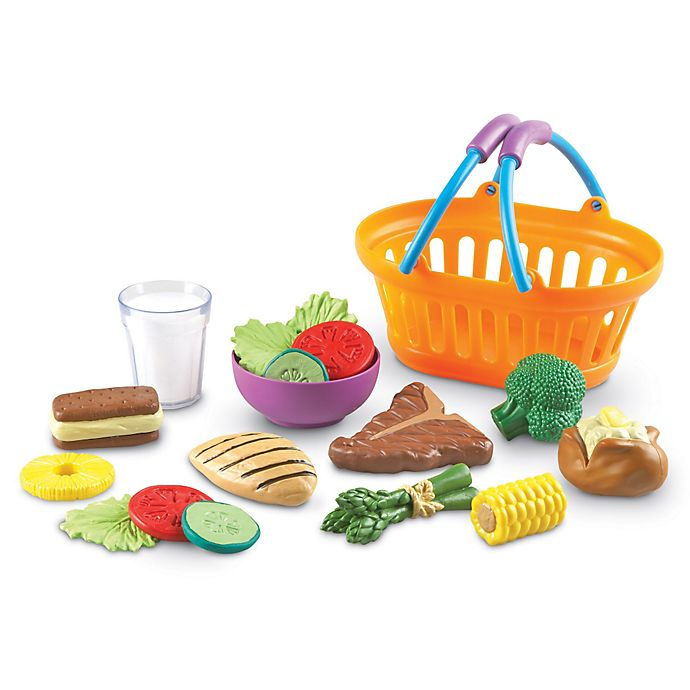 Alternate image 1 for Learning Resources 18-Piece New Sprouts Dinner Basket Set
