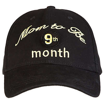 "countdowncaps™ ""Mom to Be"" Countdown Baseball Cap in Black/Gold"