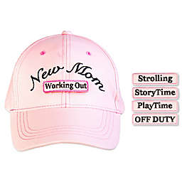 "countdowncaps™ ""New Mom"" 5-in-1 Baseball Cap in Pink/Black"