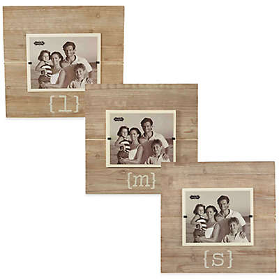 Mud Pie® Letter 8-Inch x 10-Inch Wood Picture Frame