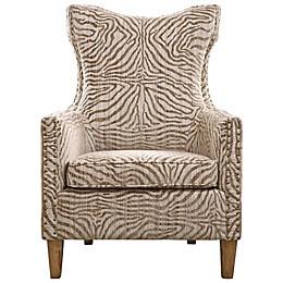 Southern Enterprises Uttermost Kiango Animal Pattern Armchair