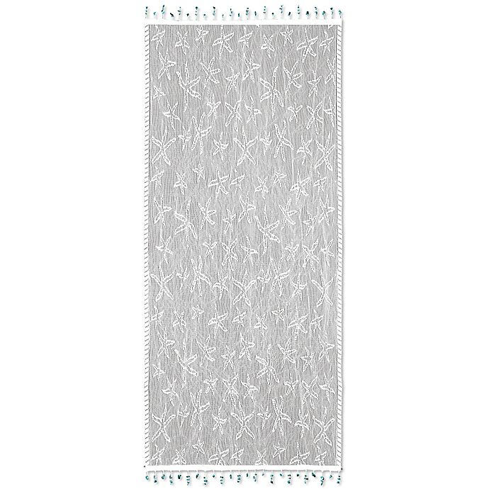 buy heritage lace starfish 15 inch x 36 inch table runner in white from bed bath beyond. Black Bedroom Furniture Sets. Home Design Ideas