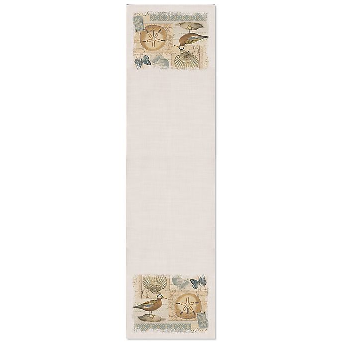 Alternate image 1 for Heritage Lace® Shorebirds Table Runner in Oyster