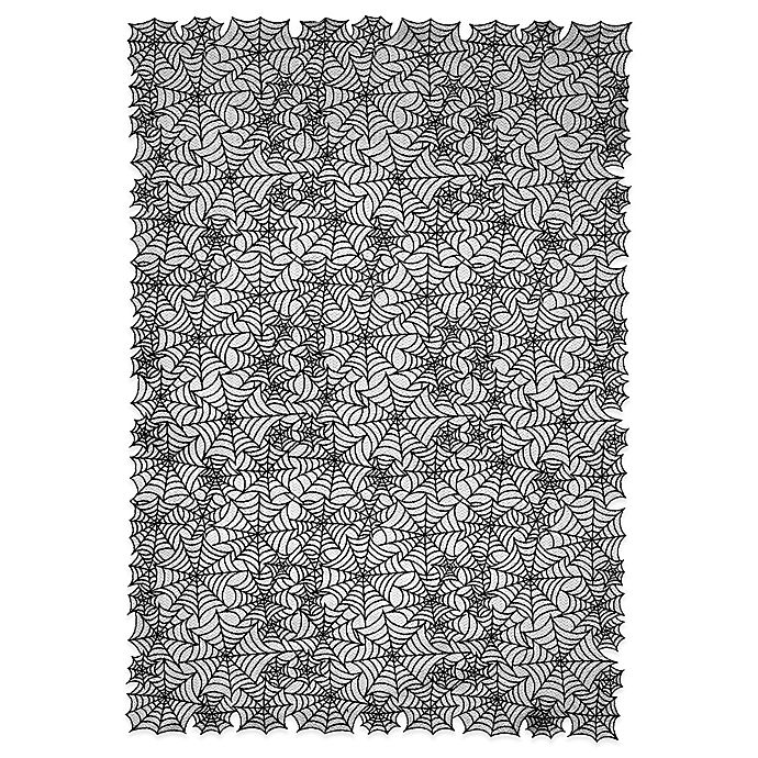 Alternate image 1 for Heritage Lace® Spider Web 60-Inch x 90-Inch Tablecloth in Black