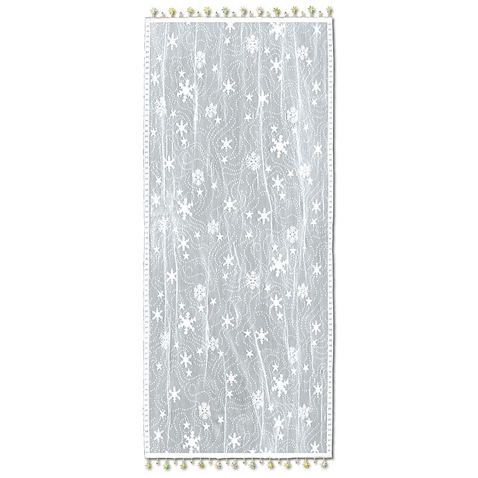 buy heritage lace wind chill 14 inch x 36 inch table runner in white from bed bath beyond. Black Bedroom Furniture Sets. Home Design Ideas