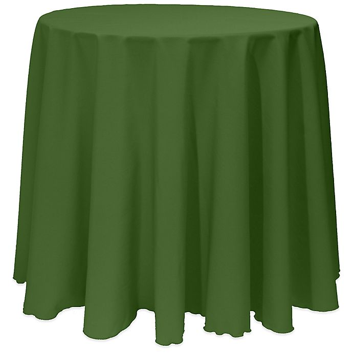Alternate image 1 for Basic 90-Inch Round Tablecloth in Moss