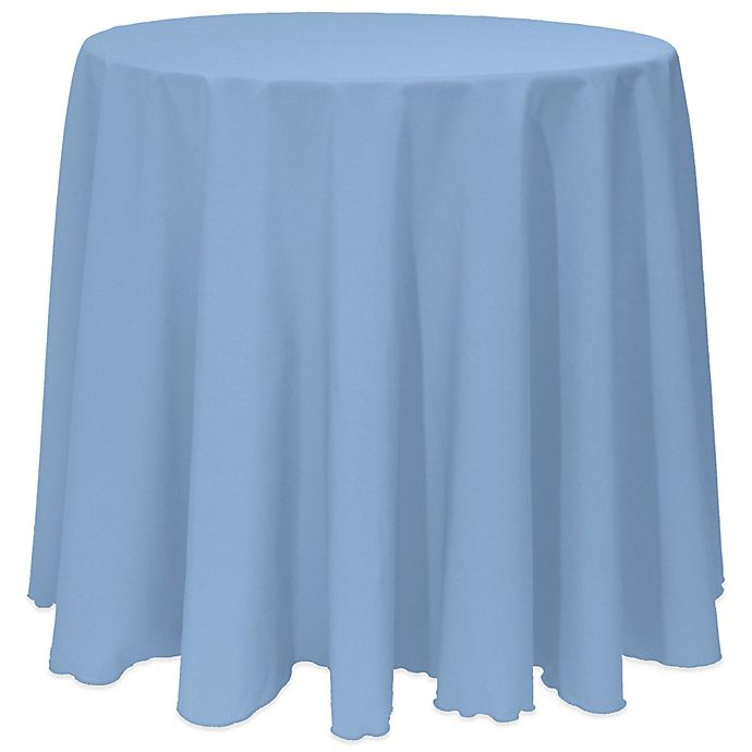 Alternate image 1 for Basic 90-Inch Round Tablecloth in Slate