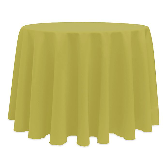 Alternate image 1 for Basic 132-Inch Round Tablecloth in Acid Green