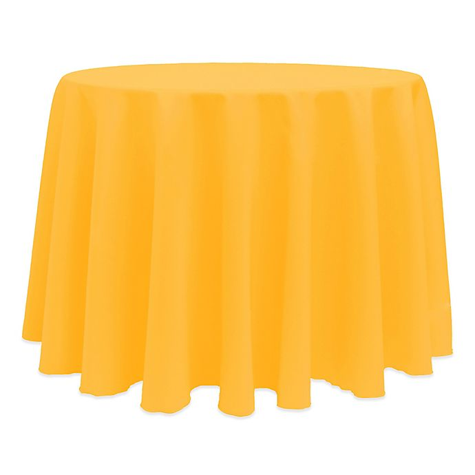 Alternate image 1 for Basic 132-Inch Round Tablecloth in Neon Orange