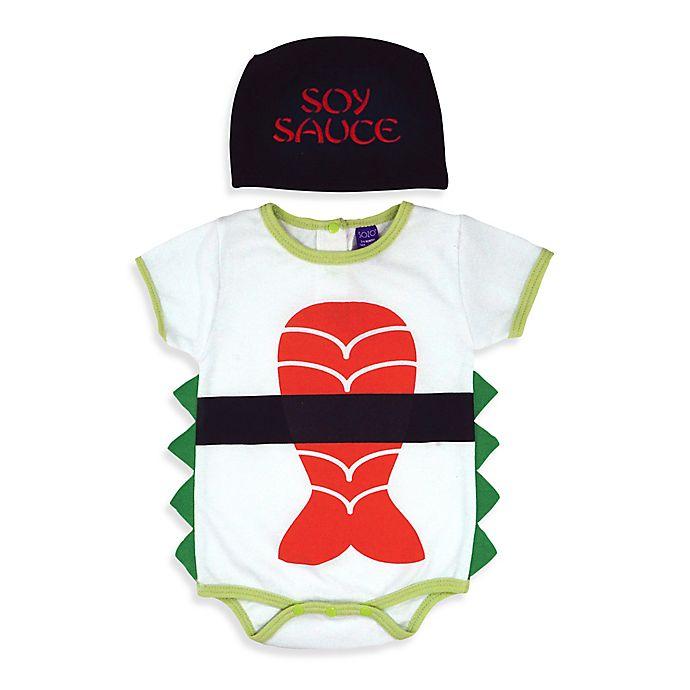 Sozo® 2-Piece Sushi Bodysuit and Cap Set in White  055ceab98