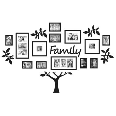 Wallverbs 19 Piece Family Tree Set In Black Bed Bath And Beyond